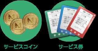 サービスコイン、サービス券の写真